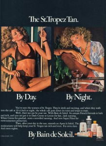 1976 tanning lotion ad