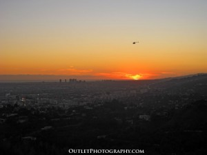 Sunset view from the Griffith Observatory