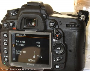 Long life of the Nikon D7000 EN-EL15 battery