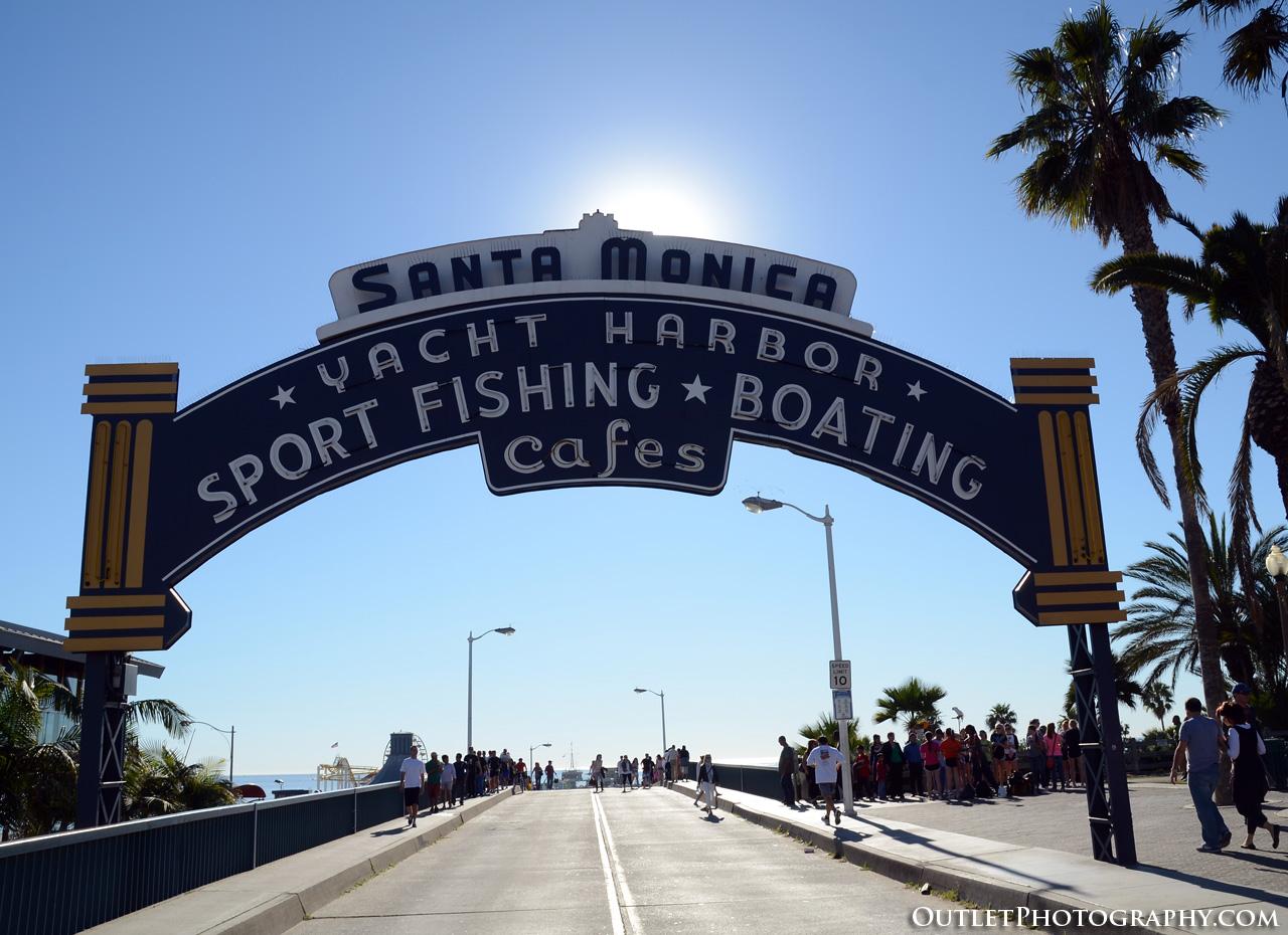 Santa Monica Pier and 3rd Street Promenade with a Nikon D7000