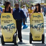 promo girls on a segway
