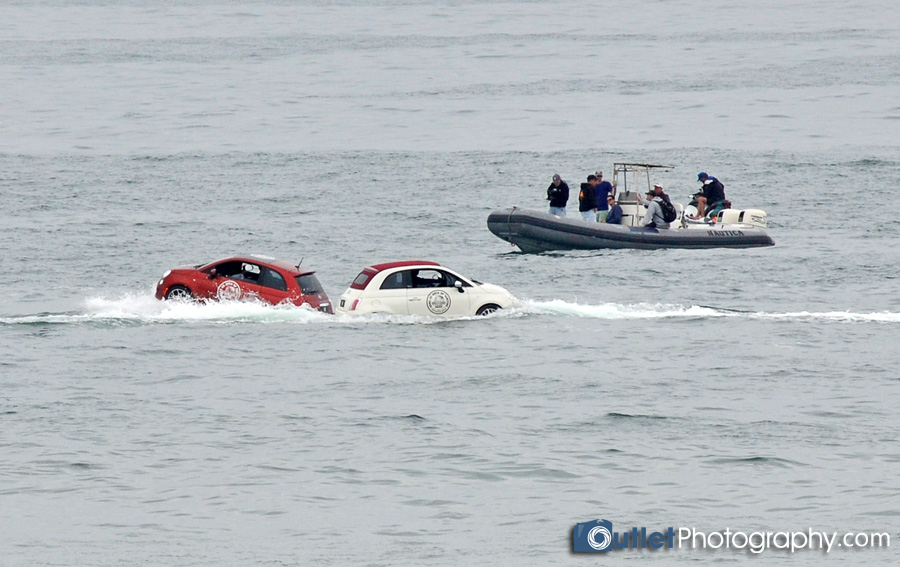 Fiat Cars in water