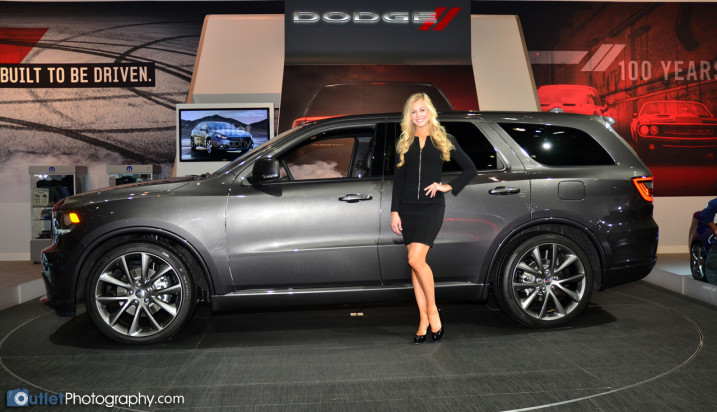 Posing with a new Dodge 2013