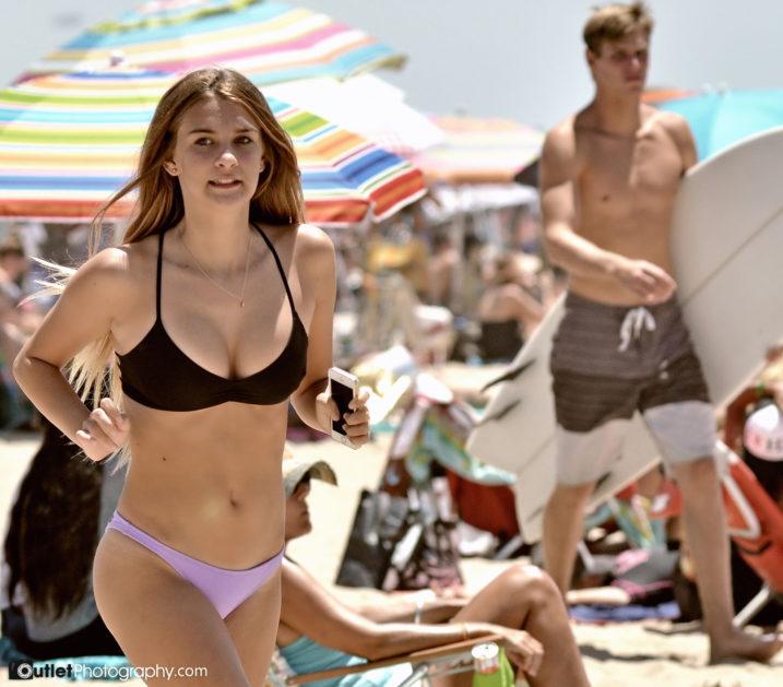 girl running at the beach